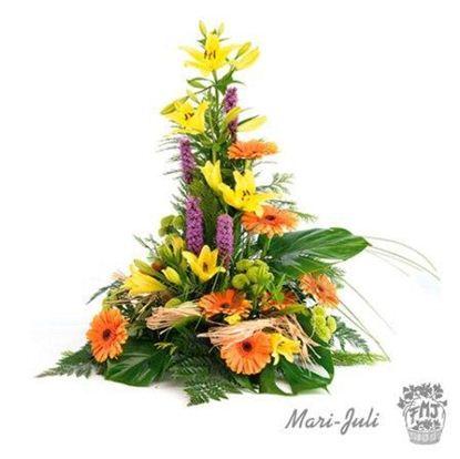 Ref.FMJ1004.Centro de flor variada.