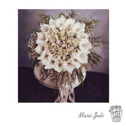 Ref.FMJ0060.Ramo de Novia Bouquet en tonos verdes y blancos