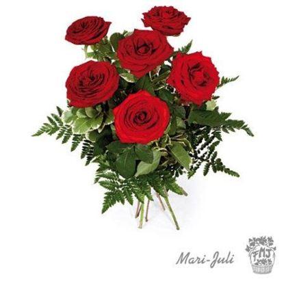 Ref.FMJ0014.Ramo de 6 Rosas Rojas.