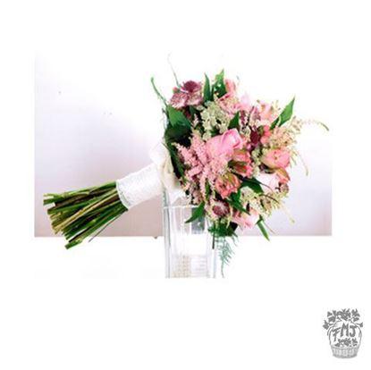 Ref.FMJ0109.Ramo de Novia Bouquet en tonos rosas y rosados .