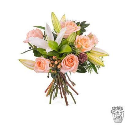 Ref.FMJ0126. Ramo de rosas y lilium.